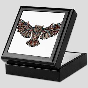 Flying Metallic Owl Keepsake Box