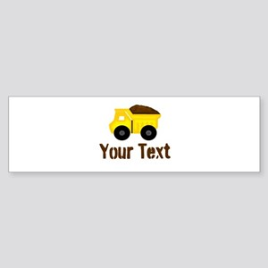 Personalizable Dump Truck Brown Bumper Sticker