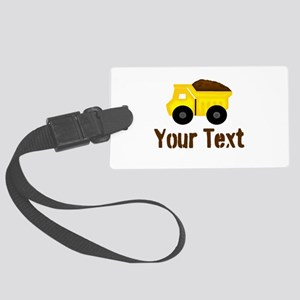 Personalizable Dump Truck Brown Luggage Tag
