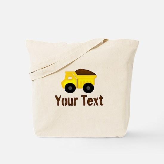 Personalizable Dump Truck Brown Tote Bag