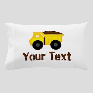 Personalizable Dump Truck Brown Pillow Case