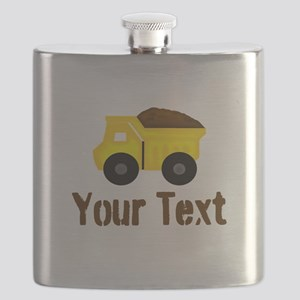 Personalizable Dump Truck Brown Flask