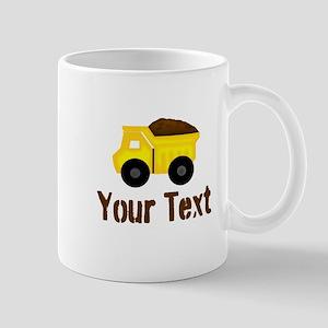 Personalizable Dump Truck Brown Mugs
