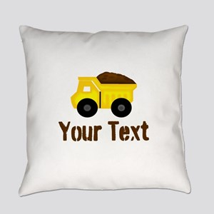 Personalizable Dump Truck Brown Everyday Pillow