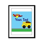 Trucks and Planes Framed Panel Print