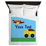Trucks and Planes Queen Duvet