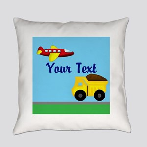 Trucks and Planes Everyday Pillow