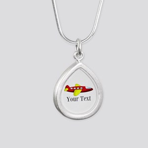 Personalizable Red and Yellow Airplane Necklaces