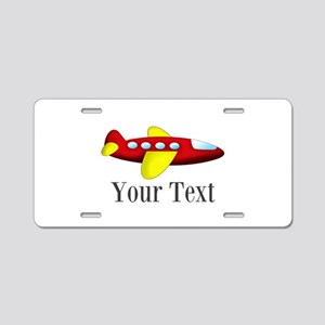 Personalizable Red and Yellow Airplane Aluminum Li