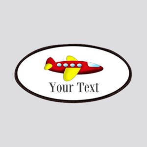 Personalizable Red and Yellow Airplane Patch
