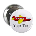 Personalizable Red and Yellow Airplane 2.25
