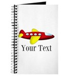 Personalizable Red and Yellow Airplane Journal