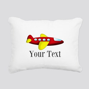Personalizable Red and Yellow Airplane Rectangular