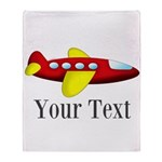 Personalizable Red and Yellow Airplane Throw Blank