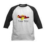 Personalizable Red and Yellow Airplane Baseball Je