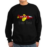 Personalizable Red and Yellow Airplane Sweatshirt