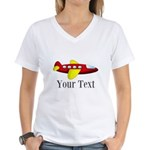 Personalizable Red and Yellow Airplane T-Shirt