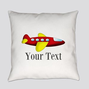 Personalizable Red and Yellow Airplane Everyday Pi