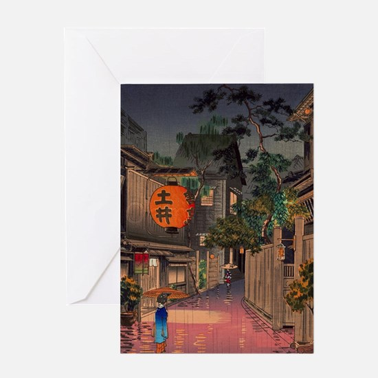 Cute Asian art Greeting Card