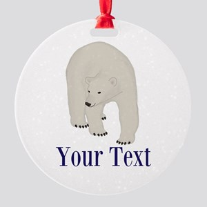 Personalizable Polar Bear Ornament