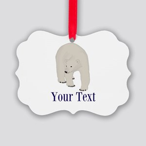 Personalizable Polar Bear Ornament