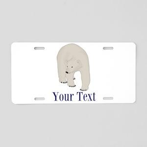 Personalizable Polar Bear Aluminum License Plate