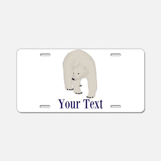 Personalizable Polar Bear Aluminum License Plate