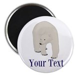 Personalizable Polar Bear Magnets