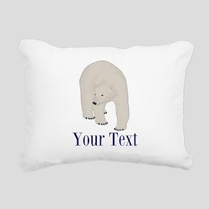 Personalizable Polar Bear Rectangular Canvas Pillo