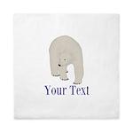 Personalizable Polar Bear Queen Duvet