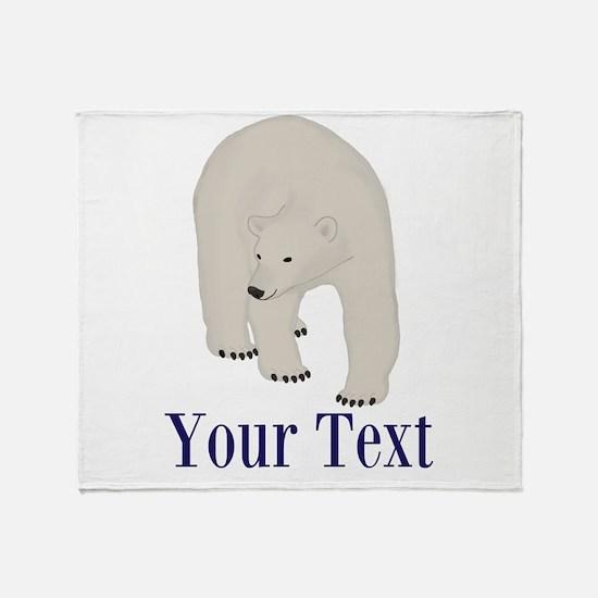 Personalizable Polar Bear Throw Blanket