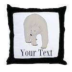 Personalizable Polar Bear Throw Pillow