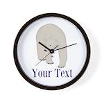 Personalizable Polar Bear Wall Clock