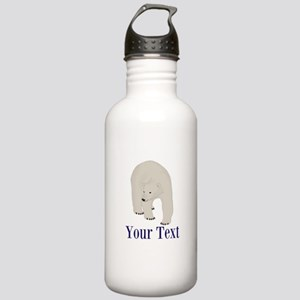 Personalizable Polar Bear Water Bottle