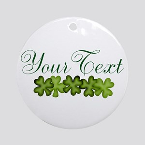 Personalizable Shamrocks Round Ornament