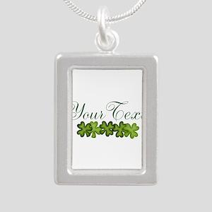 Personalizable Shamrocks Necklaces