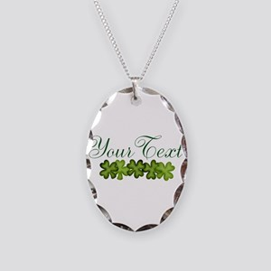 Personalizable Shamrocks Necklace