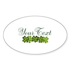 Personalizable Shamrocks Sticker