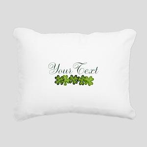 Personalizable Shamrocks Rectangular Canvas Pillow