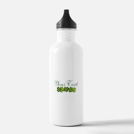 Personalizable Shamrocks Water Bottle