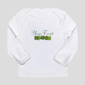 Personalizable Shamrocks Long Sleeve T-Shirt
