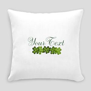 Personalizable Shamrocks Everyday Pillow