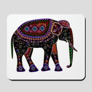 Tribal Metallic Elephant Mousepad
