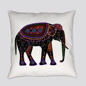 Tribal Metallic Elephant Everyday Pillow