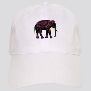 Tribal Metallic Elephant Cap