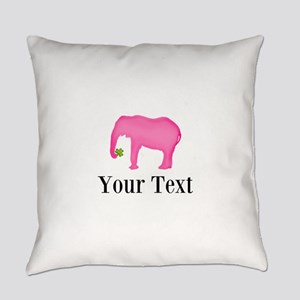 Personalizable Pink Elephant With Clover Everyday