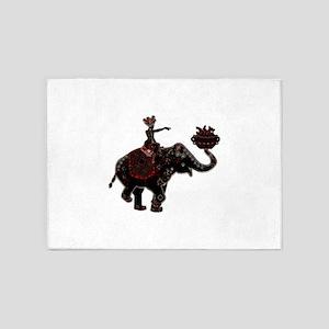 Metallic Trader on Elephant Back 5'x7'Area Rug