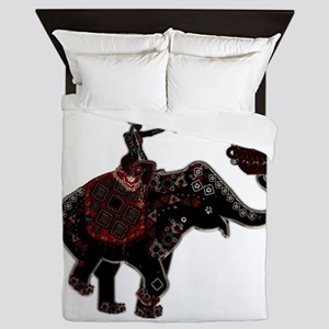 Metallic Trader on Elephant Back Queen Duvet