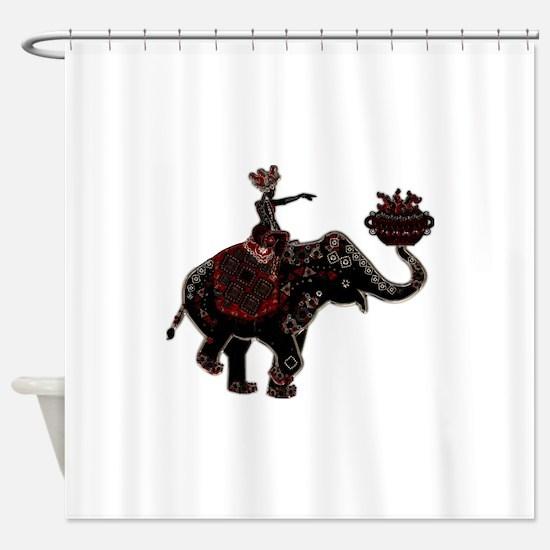 Metallic Trader on Elephant Back Shower Curtain