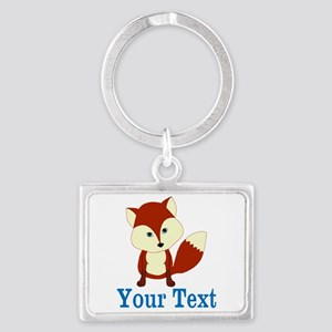Personalizable Red Fox Keychains
